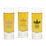 Personalized Ornate Chandelier Design 2oz Tall Shot Glass