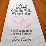 Personalized 'Dad, Of All The Walks' Aisle Runner (19 Colors)