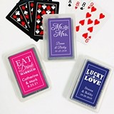 Playing Cards with Custom 'Wedding Words' Sticker on Case (25 Designs)