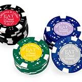 Personalized 'Eat Drink & Be Married' Poker Chips (Set of 50)