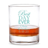 Personalized 'Best Day Ever' Design 9 oz. Whiskey Rocks Glass