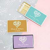 Personalized All You Need is Love Heart Design Matchboxes (Set of 50)