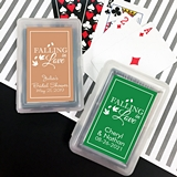 Playing Cards Deck with Personalized 'Falling in Love' Sticker on Case