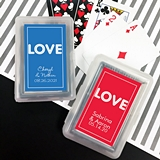 Deck of Playing Cards with Personalized 'Love Lights' Sticker on Case