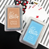 Playing Cards Deck with Personalized We Tied the Knot Sticker on Case