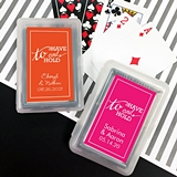Playing Cards Deck with Personalized To Have & To Hold Sticker on Case