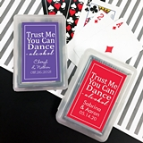 Playing Cards Deck w/ Personalized 'Trust Me… Dance' Sticker on Case