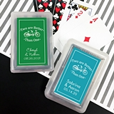 Playing Cards Deck w/ Personalized 2 Are Better Than 1 Sticker on Case