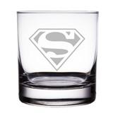 Superman Logo 10 oz 'Rocks' Glasses (Set of 2)