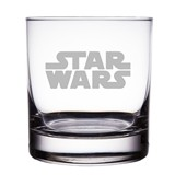"Star Wars Logo Engraved 10 oz ""Rocks"" Glass"