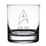 "Star Trek Starfleet Insignia 10 oz ""Rocks"" Glass"