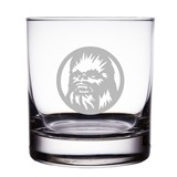 "Chewbacca Star Wars Engraved 10 oz ""Rocks"" Glass"