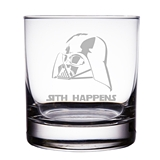 Darth Vader 'Sith Happens' Star Wars Engraved Rocks Glasses (Set of 2)
