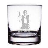 Han Solo Star Wars Engraved 10 oz 'Rocks' Glasses (Set of 2)