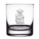 "Yoda from Star Wars Engraved 10 oz ""Rocks"" Glass"