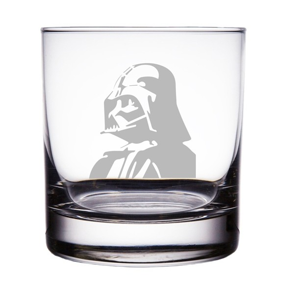 Darth Vader Star Wars Engraved 10 oz 'Rocks' Glasses (Set of 2)