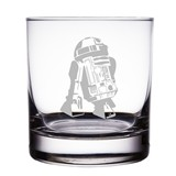"R2-D2 Astromech Droid Star Wars Engraved 10 oz ""Rocks"" Glass"