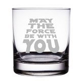 May The Force Be With You Star Wars Engraved Rocks Glasses (Set of 2)