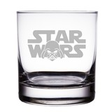 "Star Wars Logo with Darth Vader Engraved 10 oz ""Rocks"" Glass"