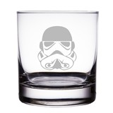 "Storm Trooper Star Wars Engraved 10 oz ""Rocks"" Glass"