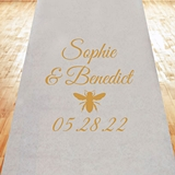 Stylish Western Bumble Bee Design Personalized Aisle Runner
