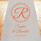 Circle Initial Infinity Design Personalized Aisle Runner (19 Colors)