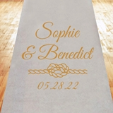 Nautical Rope Design Personalized Aisle Runner (19 Colors)