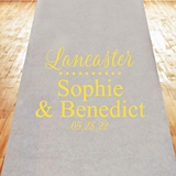 Modern Script Last Name Design Personalized Aisle Runner (19 Colors)