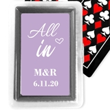 Playing Cards Deck with Personalized 'All In' Design Sticker on Case