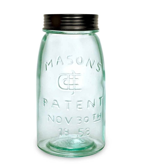 CTW Home Collection Quart-Sized Glass Mason Jar with Screw-On Lid
