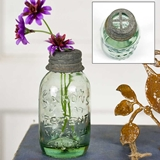 CTW Home Collection Small Mason Jars with Flower Frog Lids (Set of 6)