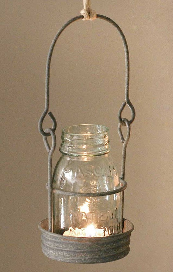 CTW Home Collection 1/4 Pint Hanging Mason Jar Candle Holder
