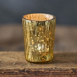 CTW Home Collection Tapered Textured Mercury Glass Votive Holders (4)