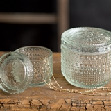 CTW Home Collection Decorative Parisian Hobnail Glass Jars (Set of 2)