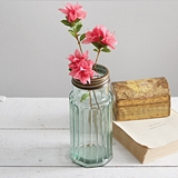 CTW Home Collection Recycled Glass Jar with 'Flower Frog' Lid