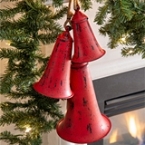 CTW Home Collection Red Metal Holiday Bells/Ornaments (Set of 3)