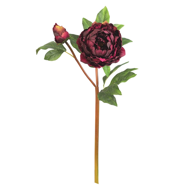 CTW Home Collection Artificial Burgundy Peony Picks (Box of 2)