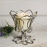 CTW Home Collection Tulip Votive Holder with Glass (Set of 4)