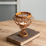 CTW Home Collection Rusty Dome Wire Tea Light Holders (Box of 2)