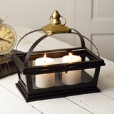 CTW Home Collection Denison Lantern with Golden Top and Hanging Loop