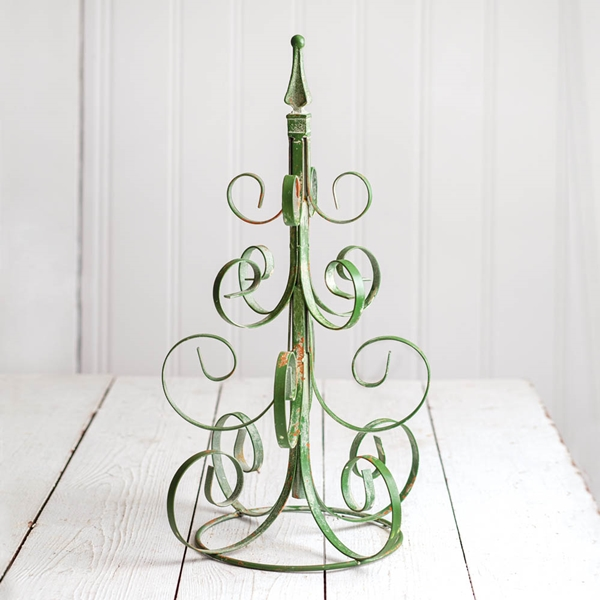 CTW Home Collection Scrolled Branches Metal Christmas Tree in Green
