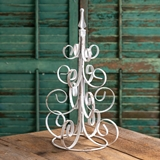 CTW Home Collection Scrolled Branches Metal Christmas Tree in White