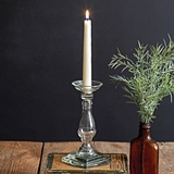 CTW Home Collection Clear Glass Taper Candle Holder