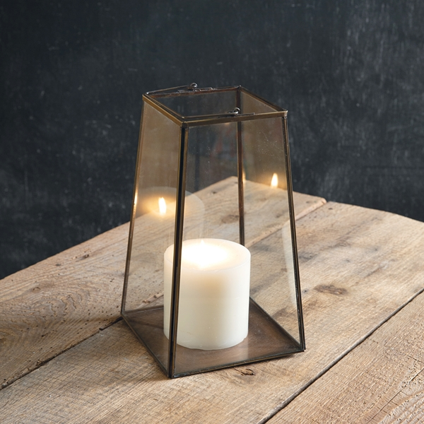 CTW Home Collection Bronze-Framed Glass-Paned Small Paramount Lantern
