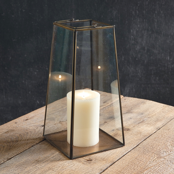 CTW Home Collection Bronze-Framed Glass-Paned Large Paramount Lantern