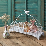 CTW Home Collection Songbird-Topped Antiqued-Metal Candle Tray