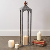 CTW Home Collection Large 'Nador' Galvanized-Metal Open Lantern