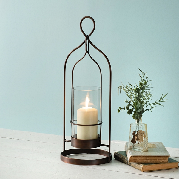 CTW Home Collection Small Copper-Plated 'Salvatore' Open-Area Lantern