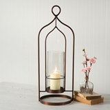 CTW Home Collection Large Copper-Plated 'Salvatore' Open-Area Lantern