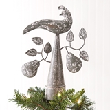 CTW Home Collection Partridge With Pears Metal Christmas Tree Topper